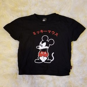 Forever 21 Mickey Mouse Japanese Graphic Tee